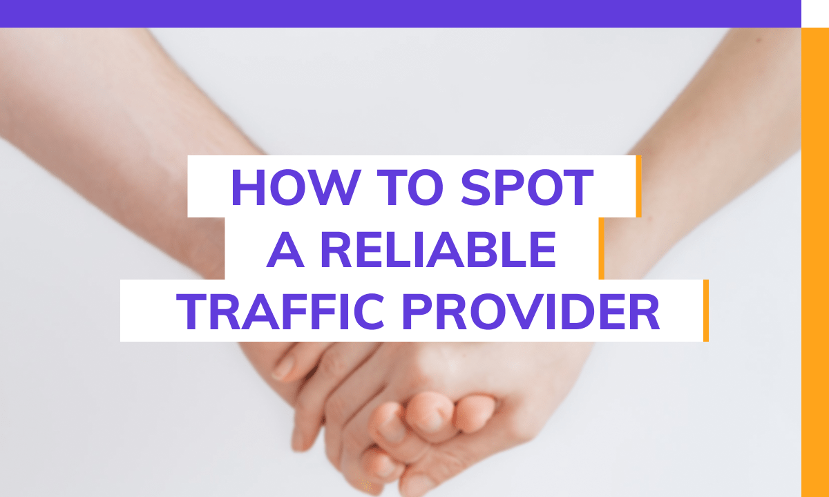 How to spot a reliable web traffic provider.